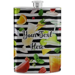 Cocktails Stainless Steel Flask (Personalized)