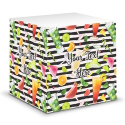 Cocktails Sticky Note Cube (Personalized)