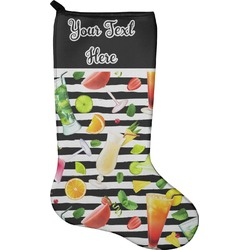 Cocktails Christmas Stocking - Neoprene (Personalized)
