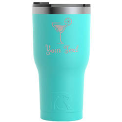 Cocktails RTIC Tumbler - Teal - 30 oz (Personalized)