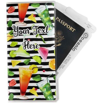Cocktails Travel Document Holder