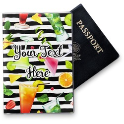 Cocktails Vinyl Passport Holder (Personalized)