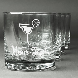 Cocktails Whiskey Glasses (Set of 4) (Personalized)