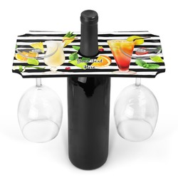 Cocktails Wine Bottle & Glass Holder (Personalized)