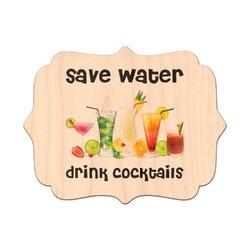 Cocktails Genuine Wood Sticker (Personalized)