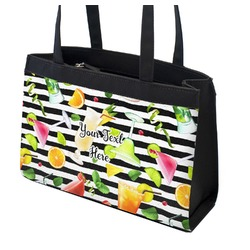 Cocktails Zippered Everyday Tote (Personalized)