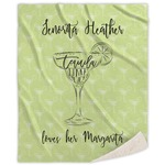 Margarita Lover Sherpa Throw Blanket (Personalized)