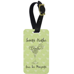 Margarita Lover Aluminum Luggage Tag (Personalized)