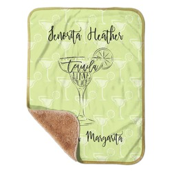 "Margarita Lover Sherpa Baby Blanket 30"" x 40"" (Personalized)"