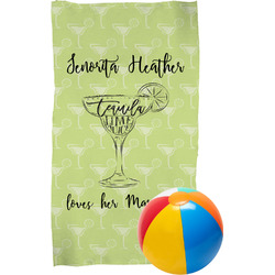 Margarita Lover Beach Towel (Personalized)