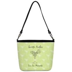 Margarita Lover Bucket Bag w/ Genuine Leather Trim (Personalized)