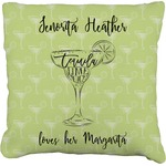Margarita Lover Faux-Linen Throw Pillow (Personalized)