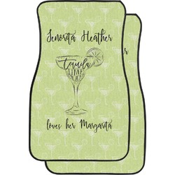 Margarita Lover Car Floor Mats (Front Seat) (Personalized)
