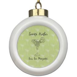 Margarita Lover Ceramic Ball Ornament (Personalized)