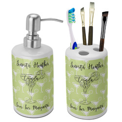 Margarita Lover Bathroom Accessories Set (Ceramic) (Personalized)