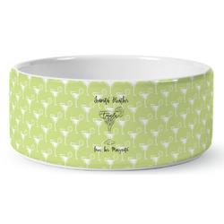 Margarita Lover Ceramic Dog Bowl (Personalized)
