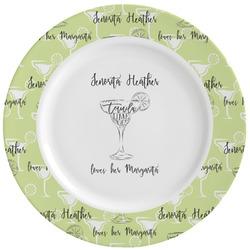 Margarita Lover Ceramic Dinner Plates (Set of 4) (Personalized)