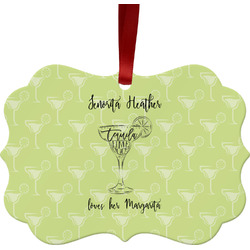 Margarita Lover Metal Frame Ornament - Double Sided w/ Name or Text