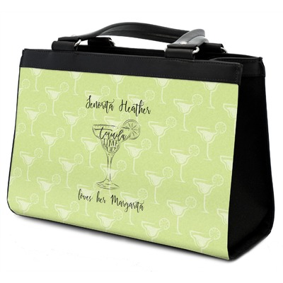 Margarita Lover Classic Tote Purse w/ Leather Trim w/ Name or Text