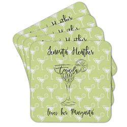 Margarita Lover Cork Coaster - Set of 4 w/ Name or Text