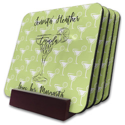 Margarita Lover Coaster Set w/ Stand (Personalized)