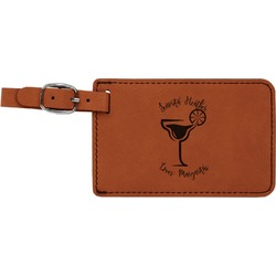 Margarita Lover Leatherette Luggage Tag (Personalized)