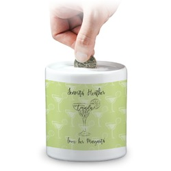 Margarita Lover Coin Bank (Personalized)
