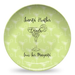 Margarita Lover Microwave Safe Plastic Plate - Composite Polymer (Personalized)