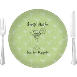 """Margarita Lover Glass Lunch / Dinner Plates 10"""" - Single or Set (Personalized)"""