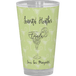 Margarita Lover Drinking / Pint Glass (Personalized)