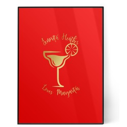 Margarita Lover 5x7 Red Foil Print (Personalized)