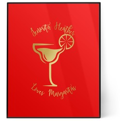 Margarita Lover 8x10 Foil Wall Art - Red (Personalized)