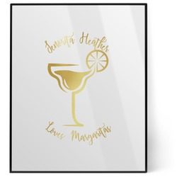 Margarita Lover 8x10 Foil Wall Art - White (Personalized)