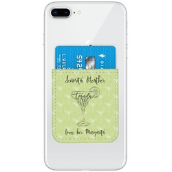 Margarita Lover Genuine Leather Adhesive Phone Wallet (Personalized)