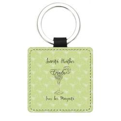 Margarita Lover Genuine Leather Rectangular Keychain (Personalized)