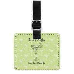 Margarita Lover Genuine Leather Rectangular  Luggage Tag (Personalized)