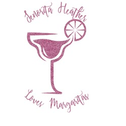 Margarita Lover Glitter Sticker Decal - Custom Sized (Personalized)