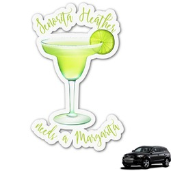 Margarita Lover Graphic Car Decal (Personalized)