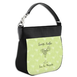 Margarita Lover Hobo Purse w/ Genuine Leather Trim (Personalized)