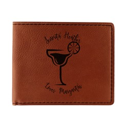 Margarita Lover Leatherette Bifold Wallet - Double Sided (Personalized)