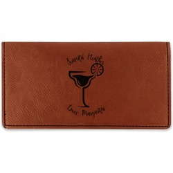 Margarita Lover Leatherette Checkbook Holder - Double Sided (Personalized)