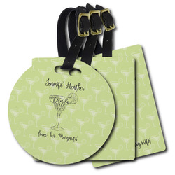 Margarita Lover Plastic Luggage Tags (Personalized)