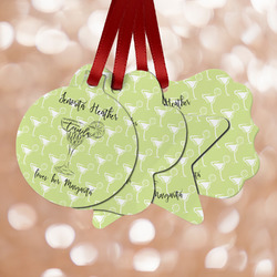 Margarita Lover Metal Ornaments - Double Sided w/ Name or Text