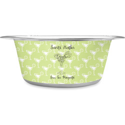Margarita Lover Stainless Steel Pet Bowl (Personalized)