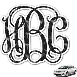 Margarita Lover Monogram Car Decal (Personalized)