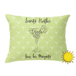 Margarita Lover Outdoor Throw Pillow (Rectangular) (Personalized)