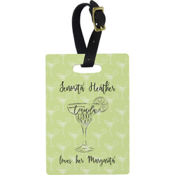 Margarita Lover Rectangular Luggage Tag (Personalized)