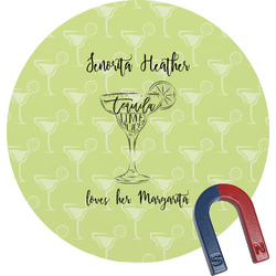 Margarita Lover Round Magnet (Personalized)