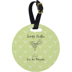 Margarita Lover Round Luggage Tag (Personalized)