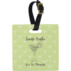 Margarita Lover Square Luggage Tag (Personalized)
